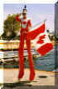 captain canada stilt-walker doug hunt toronto