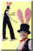 bunny rabbit stilt-walker doug hunt toronto