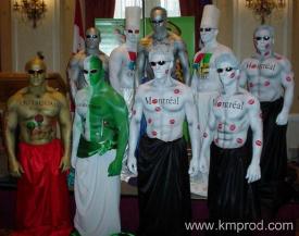 booking human statues toronto freeze pose models