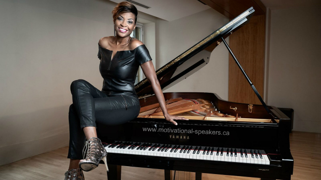 Motivational speaker & pianist Jade Simmons